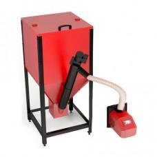 Автоматическая пеллетная горелка с бункером 25 кВт (Костер Partner)